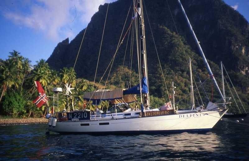 Bildet er tatt av båtens forrige eiere. Britt og Asbjørn Skjea