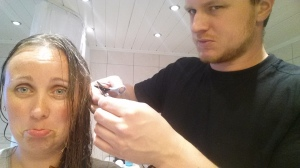 Rudi had to cut my hair...